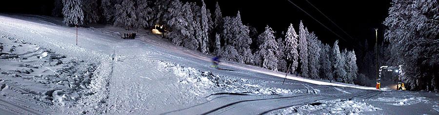 Restaurant Untergrenchenberg - Nachtskifahren Skipiste
